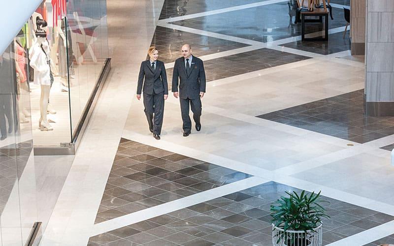 security people walking