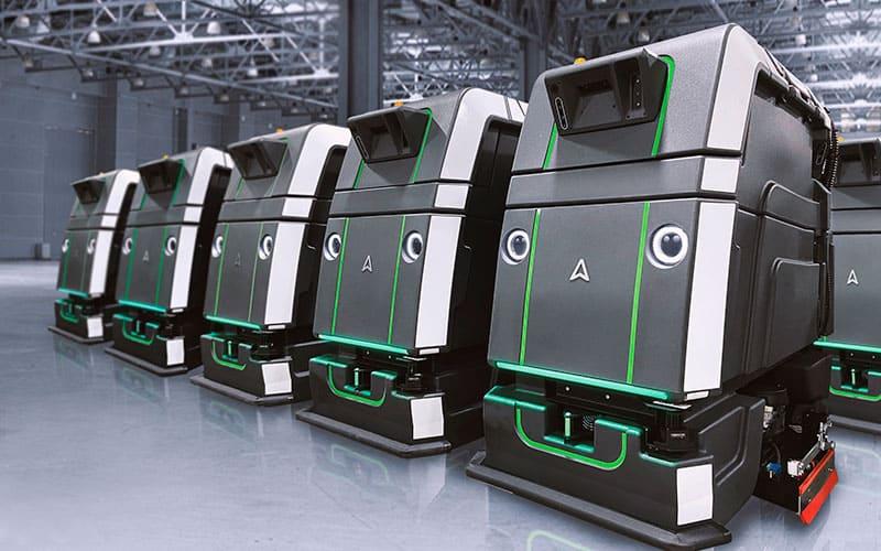 bank of robots