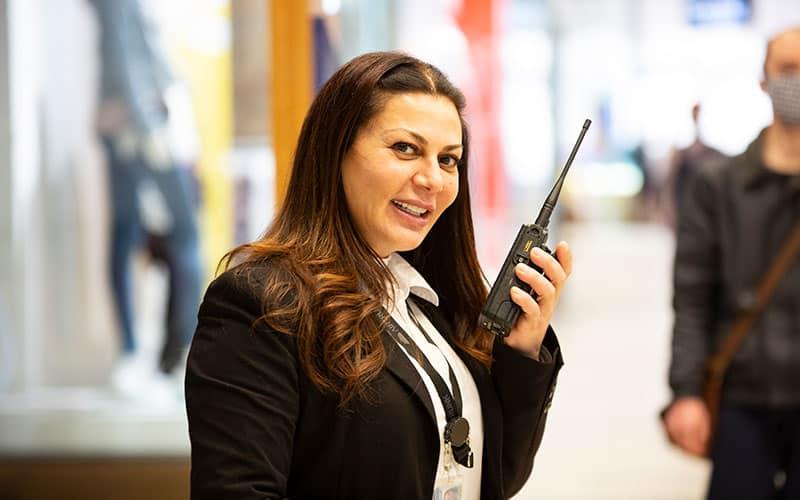 woman on walkie talkie